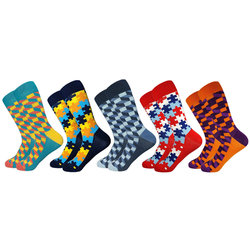 5 colori calze da uomo all'ingrosso clienti dedicato su ordine all'ingrosso di collegamento 90 set di 450 paia di calze da uomo