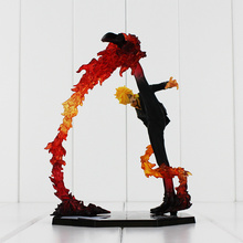 One Piece Black Leg Sanji Fire Battle Version Anime PVC Action Figure Collection Model Toys With