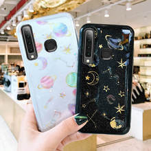 Glitter Universe Planet case For Samsung Galaxy A9 2018 A920 Star Bling Moon Cover For Samsung J4 Plus J6 Plus 2018 phone cases case for samsung galaxy a9 2018 case electroplated glitter fish scale soft silicon phone cover for samsung a9 2018 a920 cases