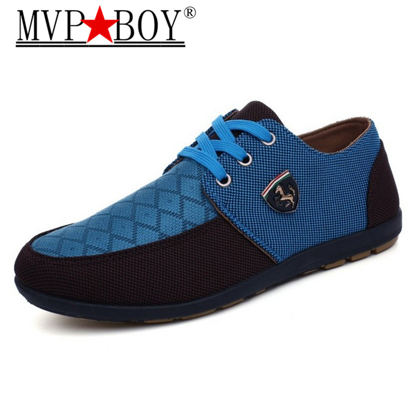 MVP BOY Fashion High Quality Men 39 s Casual Canvas Shoes Lace Up Flats Men Breathable Shoe Men Oxfords Superstar Shoes Size 39 45 in Men 39 s Casual Shoes from Shoes