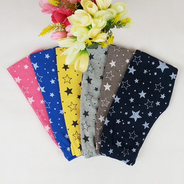 Spring Autumn New Baby Children Girls Cotton Long Pants Casual Star Printed Warm Comfortable Breathable Skinny Stretchy Leggings