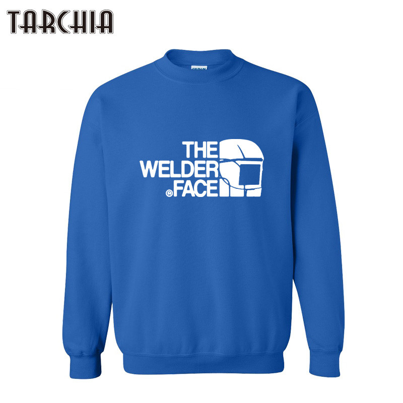 TARCHIA Mens Hooded Hoodies 2018 THE WELDER FACE Print Sweatshirt Mens Pullover Hoodies Clothes Man Hoodies Tracksuits
