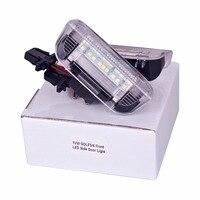 HengChiLun 2PCS 12V 6000K LED Number Plate Lamp Car LED License Plate Light For Volkswagen Passat