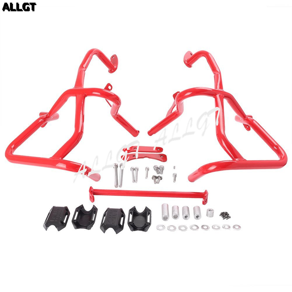 1PC Motorcycle Engine Crash bars Protection for BMW F800GS/F700GS 2013-2017 Black & Red