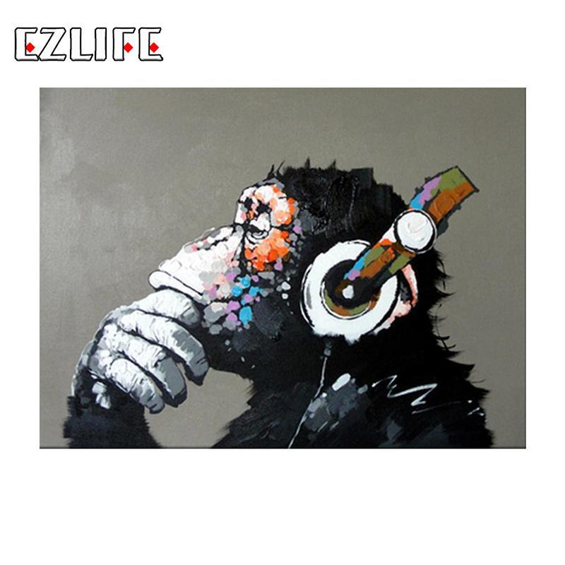Abstrakte Musik Affe DIY Malerei Durch Zahlen Hause Wand Kunst Bild Malen Kalligraphie Malerei Kunstwerk Home Dekoration