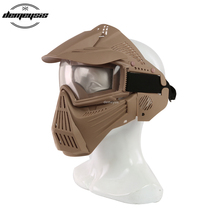 Tactical Full Face Mask with Lens Airsoft Hunting War Game Mask Protective Goggle Full Face Masks