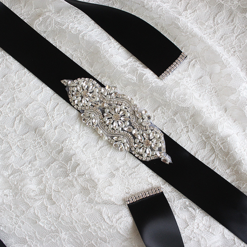Exquisite Artificial Belts Crystal Rhinestone Pearl Beading Stones Bridal Gown Sash Formal Evening Dress Wedding Belts 2018