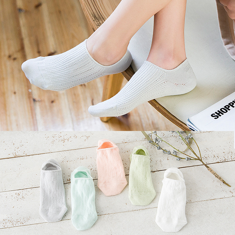 Lace Invisible Silicone Peas Shoes Low Cut Socks Boat Socks Ankle