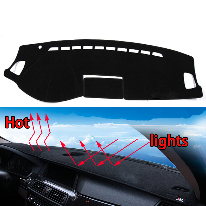 Car dashboard Avoid light pad Instrument platform desk cover Mats Carpets Auto accessories car styling for mazda 6 learning carpets us map carpet lc 201