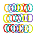 Rainbow ring connected with the hand ring ring baby car hanging bed hanging card Teether toy (24 pcs/ bag) WJ249