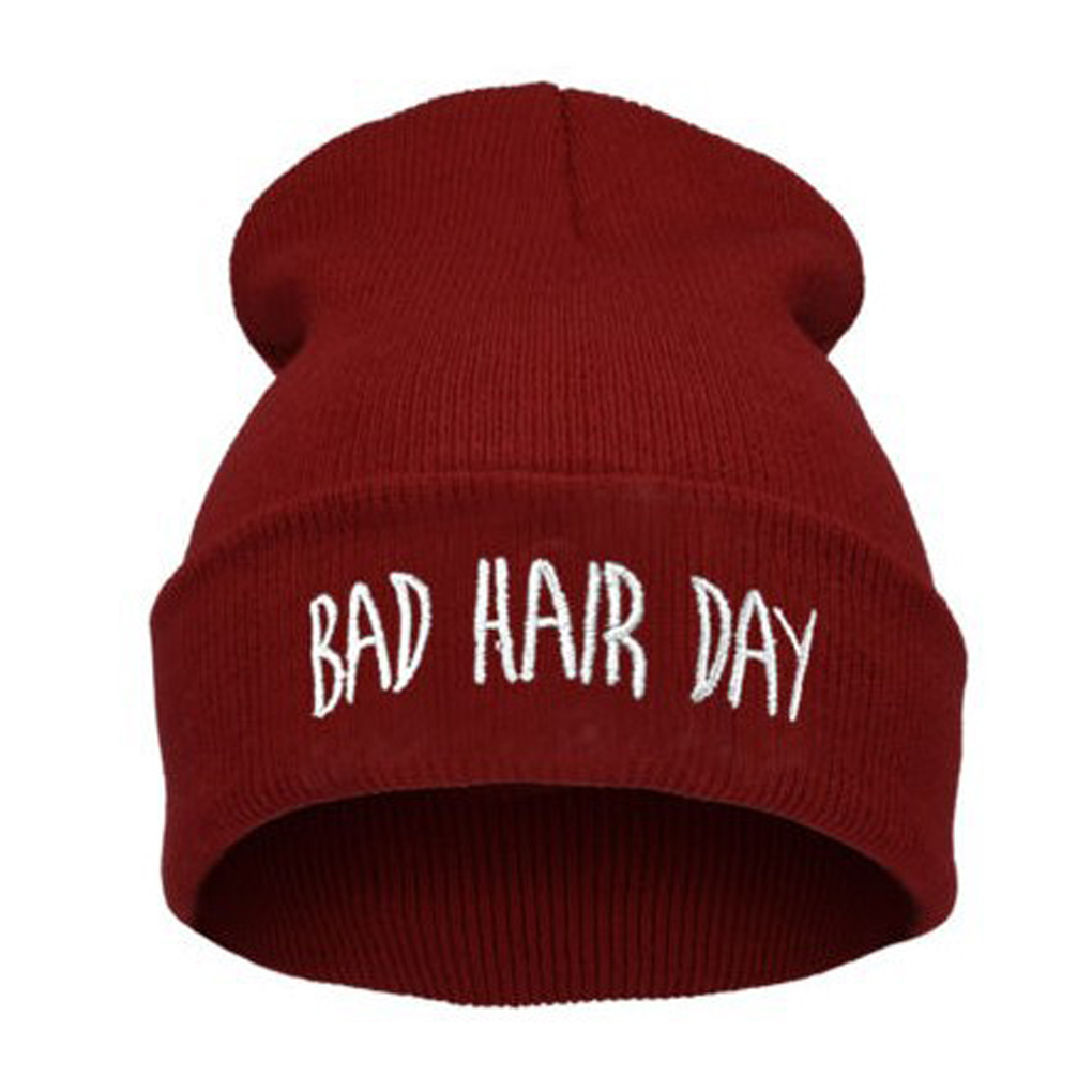 Funny Words Printing Beanie Men Warm Caps Women Knitting Wool Hip Hop Cap Autumn Winter Hats 2017 New Product 2017 special offer limited polyester adult beanie korean warm fold hip hop head cap casual knitting hat wool winter heap hats