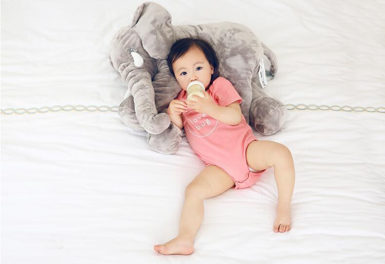 Cartoon 66cm Large Plush Baby Pillow Soft Elephant Feeding Sleeping Cushion Baby Bed Car Seat Pillows Kids Stuffed Plush Toys