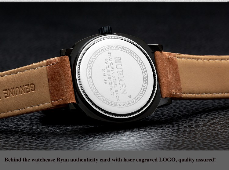 CURREN Original Brand Men Watch Luxury Leather Strap Quartz Watch Waterproof Clock 8139 20