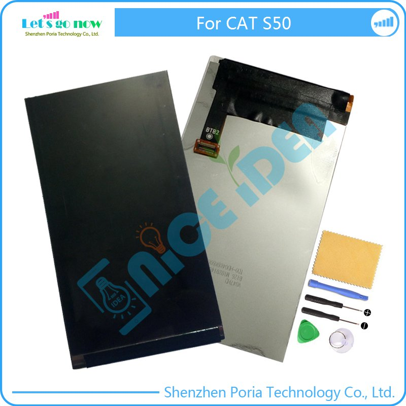 LCD Display 4.7 Inch Screen Perfect Repair Parts For CAT S50 Monitor Screen Replacement With Tools