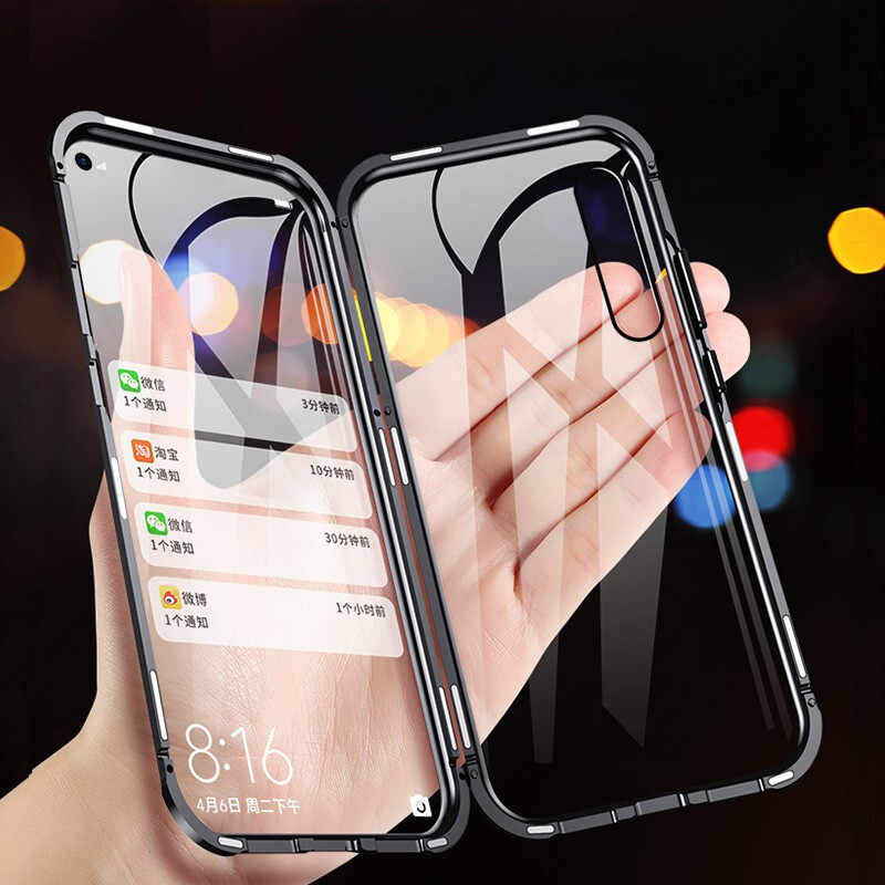 Magnetic Adsorption Phone Case For Huawei P20 Lite P30 Pro Nova 3 3i 3e Tempered Glass on Honor 8X Y5 Y6 Y7 Prime Y9 2019 Case