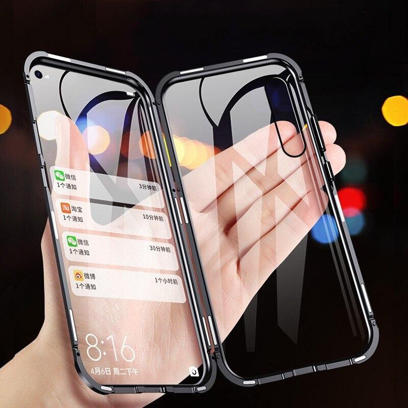 Magnetic Adsorption Phone Case For Huawei P20 Lite P30 Pro Nova 3 3i 3e Tempered Glass on Honor 8X Y5 Y6 Y7 Prime Y9 2019 Case|Специальные чехлы|   | АлиЭкспресс