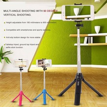 Handheld Mini Tripod 3 in 1 Self-portrait Monopod Phone Selfie Stick w Bluetooth Remote Shutter for Smart Phone Camera Universal стоимость
