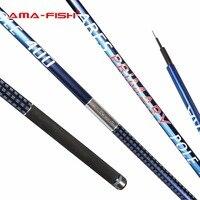 AMA-FISH спининг карбон удочка телескопическая из карбона 4 метровые 4 секции удочка из углеродного волокна удочка телескопическая 5-20g спининги...