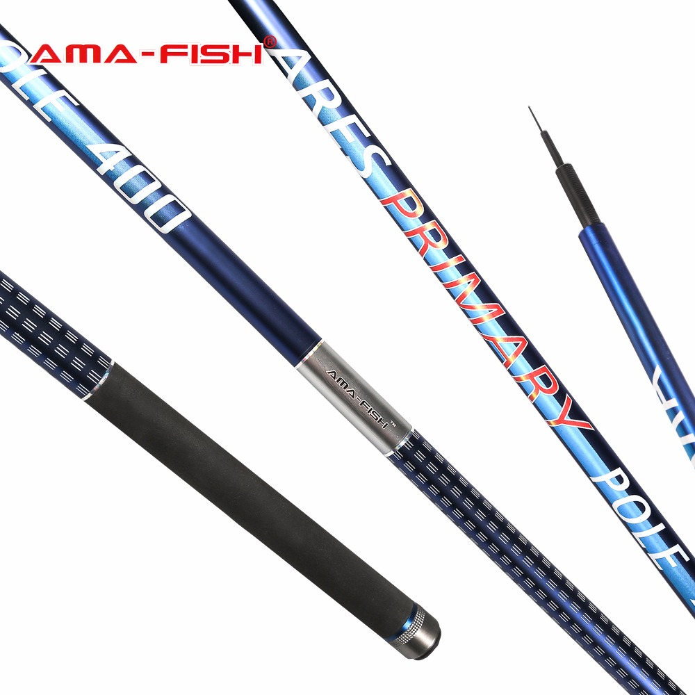 Ama fish ares im6 primary pole telescopic fishing rod 4m for Fiber in fish