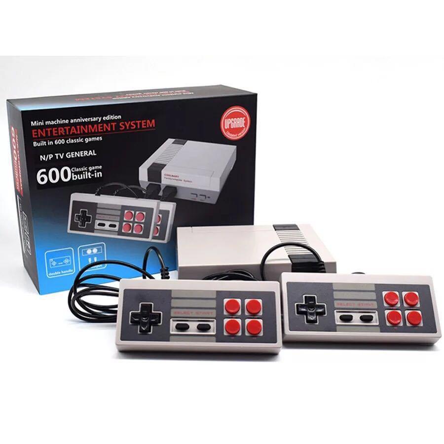 Eas ТВ ITA Ретро ТВ Ручной игровой консоли мини-игры встроенный 600 игр PAL и NTSC двойной геймпад R33