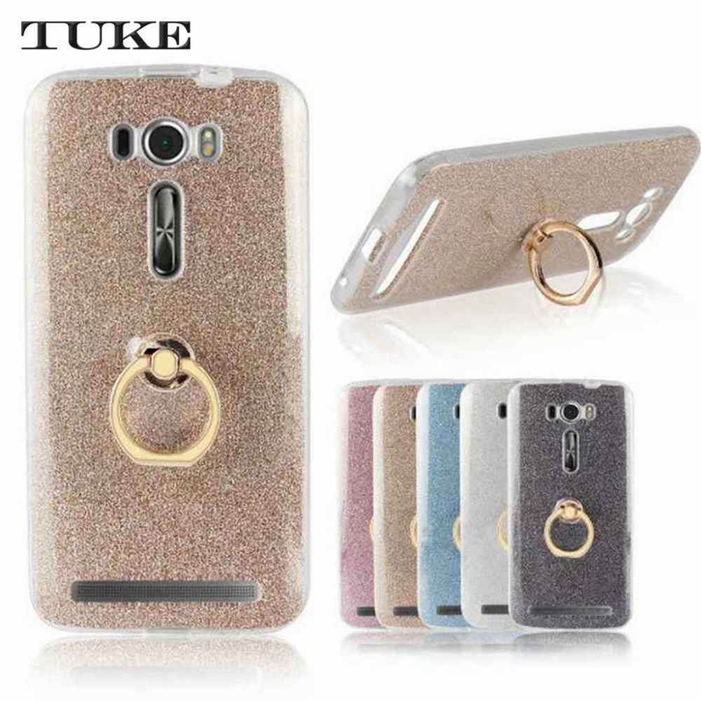 Brand Tuke Case For ASUS ZenFone <font><b>2</b></font> Laser ZE500KL 5inch Case <font><b>ZE</b></font> <font><b>500KL</b></font> Case Cover Soft Silicone+ Finger Ring Holder image