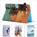 Fashion Flower Tree Owl Card Slot Pu leather stand holder Cover Case For Samsung Galaxy Tab E 9.6 T560 SM-T560 T561 with pen