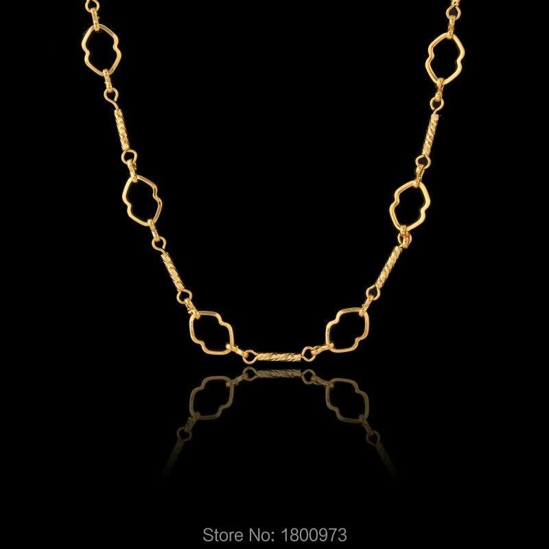cd7740f22d0afe ٩(^‿^)۶New Vintage Sautoirs Colliers pour Femmes Men18K Or Couleur ...