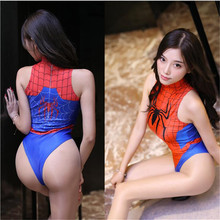 printing Comic Spider-Man Play suit Tighten erotic body sexy lingerie bodystocking sexy costumes catsuit body suit open crotch new printing comic xiao qiao game role play tighten body sexy lingerie bodystocking sexy costumes catsuit body suit open crotch