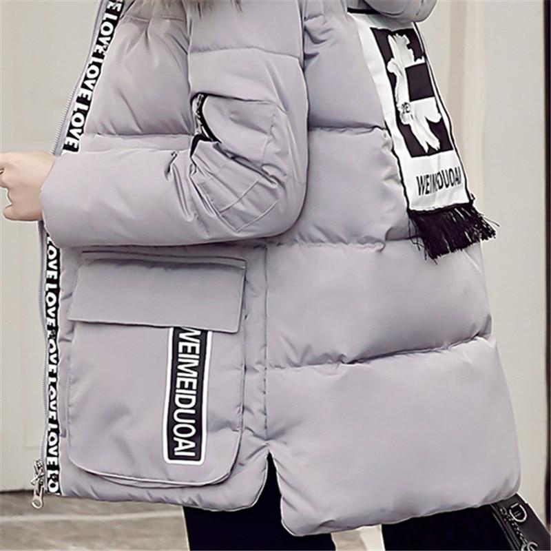 Au Chaud À D'hiver Black gray Col armygreen Court Manteau Coton Parka M La Épaissir Casual 6xl De Femmes Femelle Garder red Fourrure Plus Taille Veste Capuchon Impression Lp184 wIzXqq