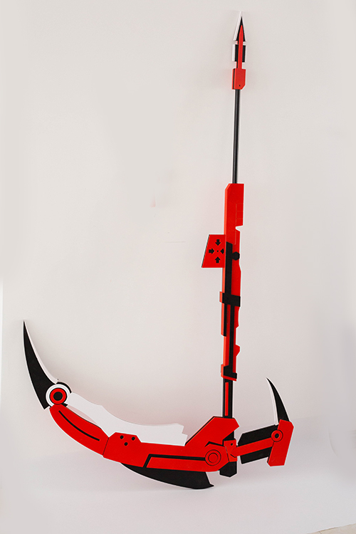 Methodical Hot Transmutable Rwby Ruby Crescent Rose Sickle Pvc Cosplay Scythe Prop 71 Weapons Durable In Use Costume Props