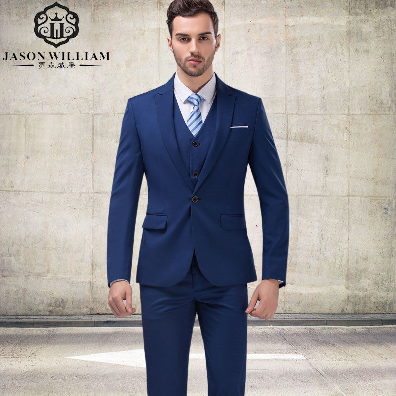 Popular Navy Blue Suit-Buy Cheap Navy Blue Suit lots from China ...