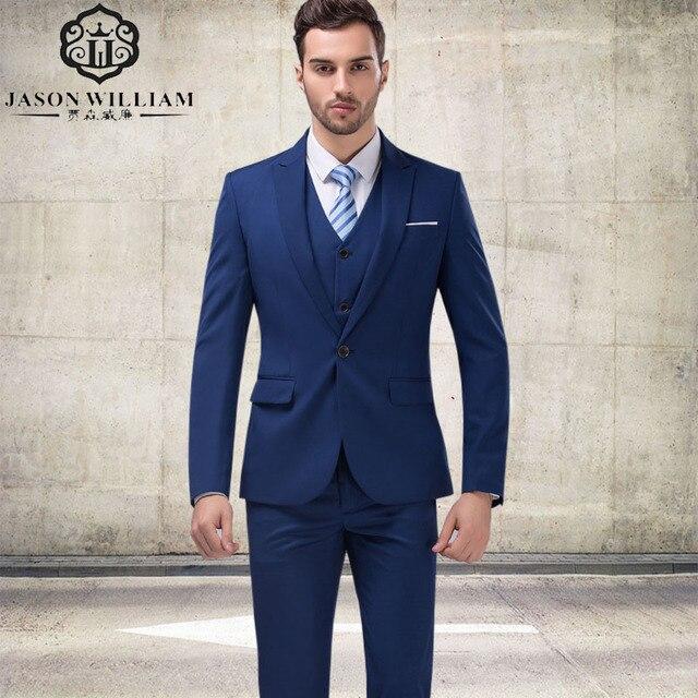 92f7c587e4f8 LN103 индивидуальный заказ костюм для свадьбы Темно-синие отцов костюм 2017  смокинг для жениха мужской