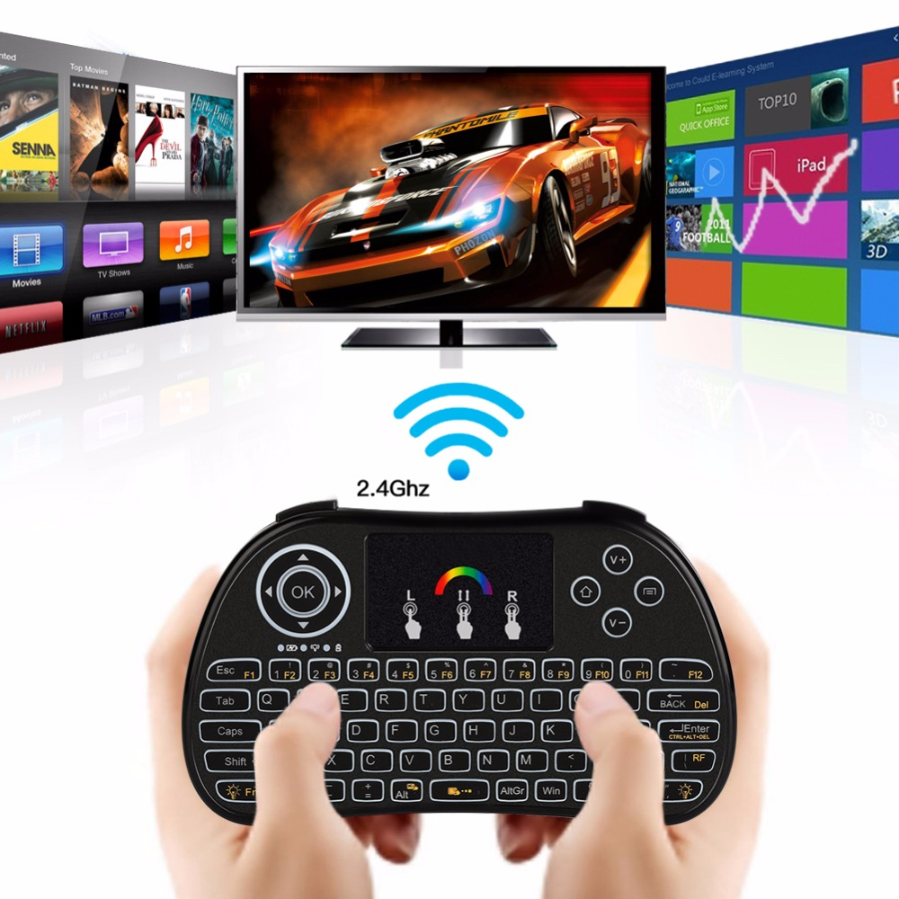 VBESTLIFE 2.4G Wireless Remote Control LED Backlight Touchpad Gaming Keyboard Remote for PC Mac Smart TV Universal Free Shipping