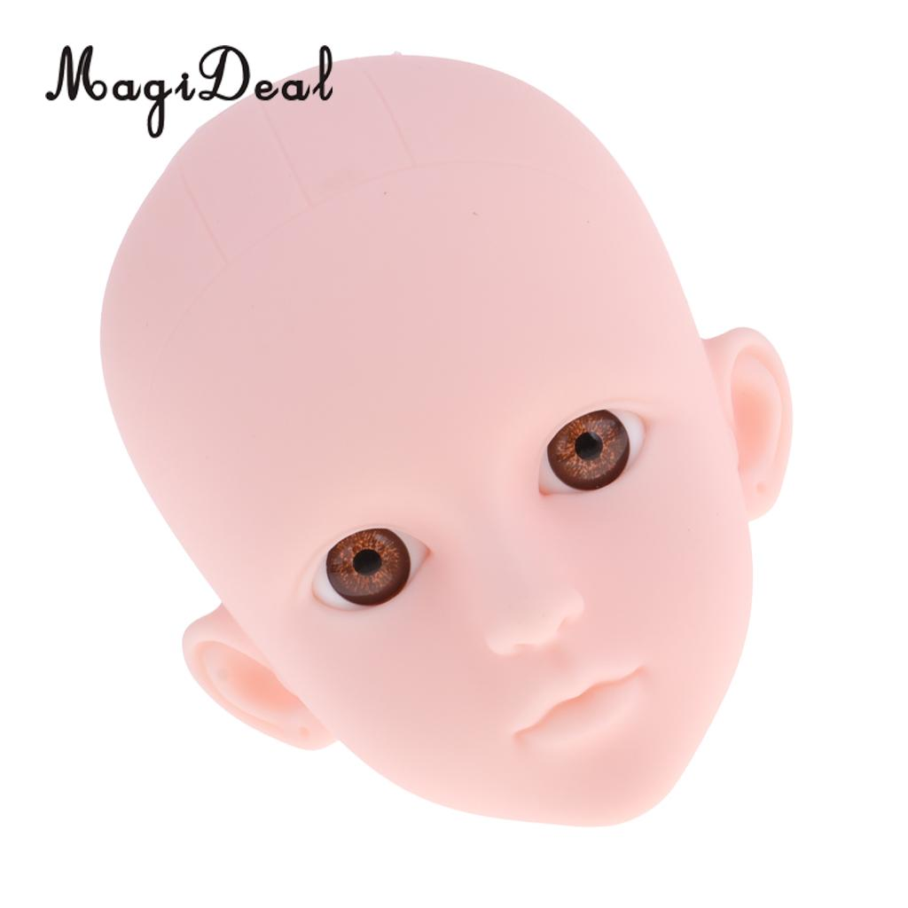 1/4 Female Doll Head Sculpt with Brown Eyes DIY Parts High Quality Plastic for BJD Doll modern chandelier e27 2028 3 5 heads frosted glass led chandelier for living room bedroom kitchen dining room ceiling chandelier