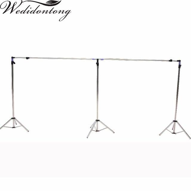 Online Shop Wedding Backdrop Stand Metal Frame Adjustable Pipe Drape ...