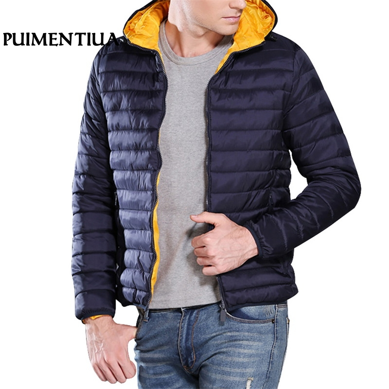 Puimentiua 2019 Autumn Men Hooded Casual Jacket Male Winter Thicken Fitness Softshell Warm Overcoat Outdoor Solid Zip Up Jacket