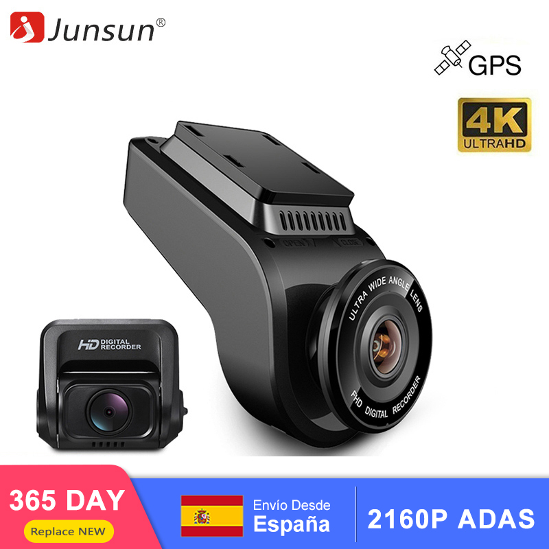 Junsun 4K 2160P Ultra HD Car DVRs Recorder Dual Lens Dashcam Built in GPS Tracker Night