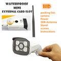 Câmera ip Megapixel WI-FI Ao Ar Livre Sem Fio à prova d' água 720 p HD rede CCTV Segurança IR Slot Para Cartão SD P2P Bala Infravermelho