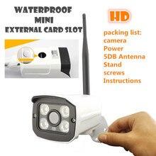 waterproof Outdoor Wireless  ip camera WIFI Megapixel 720p HD   Security CCTV network IR Infrared SD Card Slot P2P Bullet