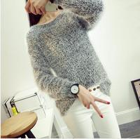 New Fashion Korean Women S Sweaters Loose Round Neck Scarf Collar Sweater Korean Sweater Women Pullover