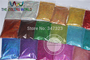 Image 2 - 24 Laser Holographic Colors 0.1MM  fine Glitter Powder for nail decoration and others DIY Accessories