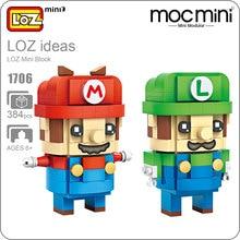 LOZ Mini Blocks Super Action Figure Blocks Brothers Toys POP Chibi Toys DIY Cute Model Gift