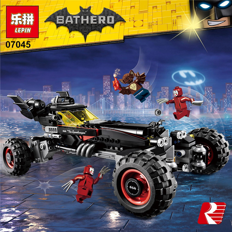 Lepin Building Blocks Cartoon Batman Car Assembling Building Bricks DIY Toys Educational Toys Kids Gifts  07045-07047 3d puzzle diy assembling car toys justice dawn batman batmobile metal model creative gift diy educational kids toys