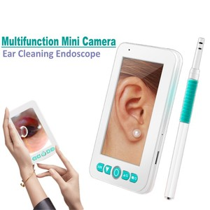 Image 2 - 2019 Newest Ear Scop Nose Otoscope 4.3 Inch display 1080P Visual Ear Cleaning Spoon Endoscope Camera with Video/Photo Recording