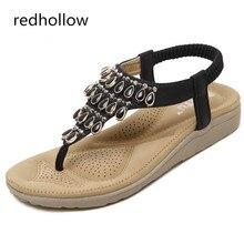 2019 Women Flat Shoes Sandals Comfort Summer Bohemia Women Sandals Flip Flops Fashion Shoes for Women Beach Sandalias Mujer