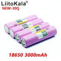 8 pçs novo liitokala 100% original inr 18650 bateria 3.7 v 3000 mah inr18650 30q li ion baterias recarregáveis