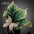 Chran New Emerald Green Imitation Diamond Ring Butterfly Dragonfly Fashion Rings for Women Red,Purple,Gold (Dragon DFDR0051)