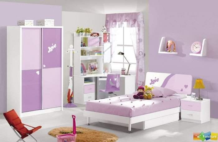 4 Pcs New Full Size Bedroom Set MDF Panels Children ...