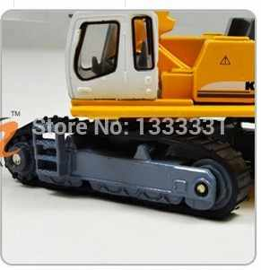 Gratis pengiriman kualitas tinggi model anak mainan cars diecast kendaraan rekayasa crawler excavator 1: 87 kaidiwei serupa untuk siku