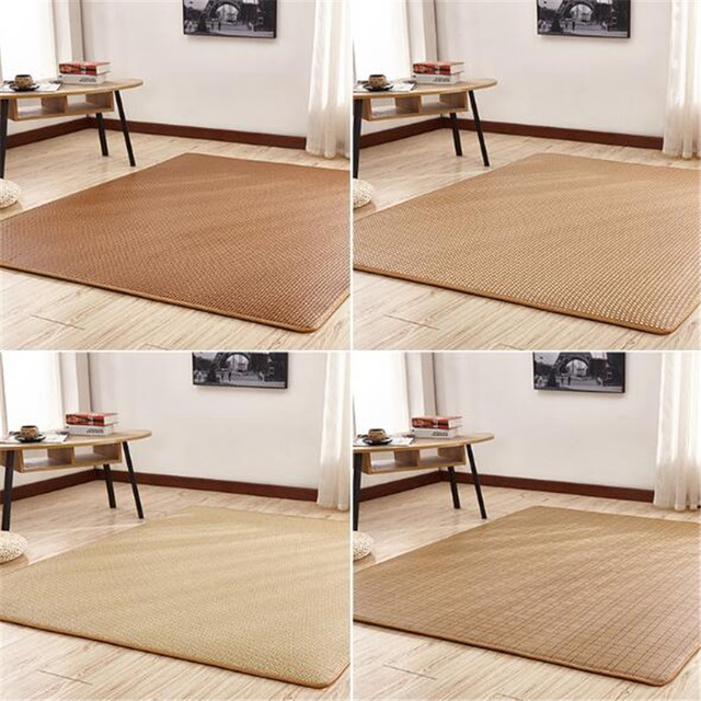 Weave Straw Mat Rattan Bamboo Weave Non Slip Rugs Wooden Floor